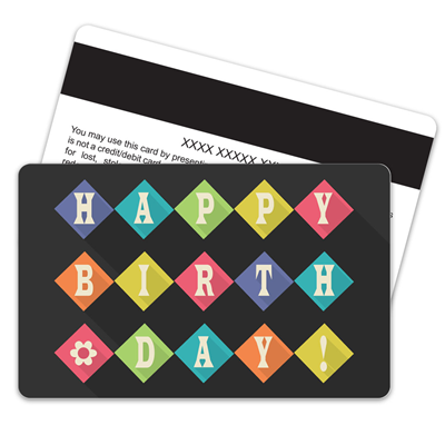 Birthday Retro Magnetic Stripe