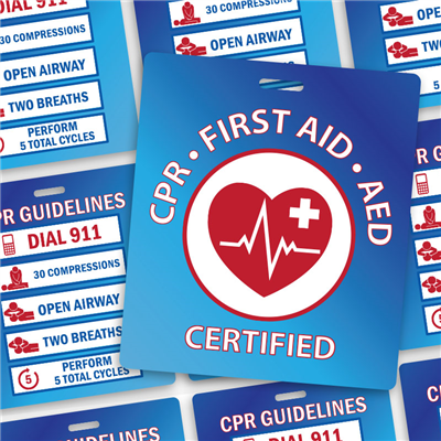 "CPR Certified - 3.5"" x 4"" with Slot"