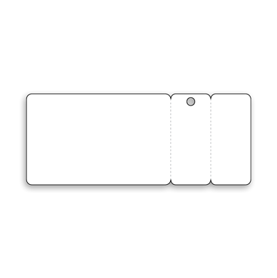 Card with 2 Key Tags (1 Without Hole)
