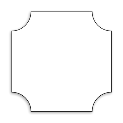 Square with Inverted Corners