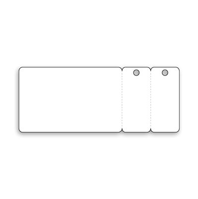 Card with 2 Key Tags