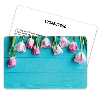 Tulips on Turquoise Numbering