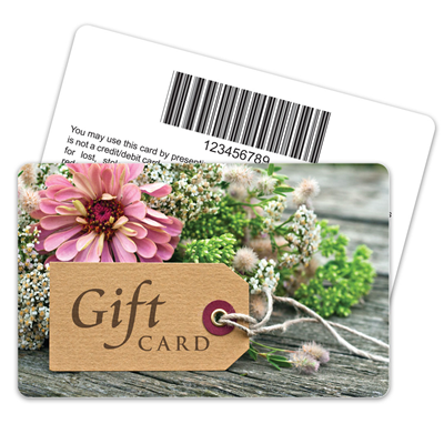 Gift Tag Floral Barcode